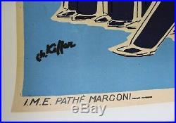 AFFICHE LES COMPAGNONS DE LA CHANSON COLUMBIA Pathé Marconi E. PIAF F. MELLA 1953