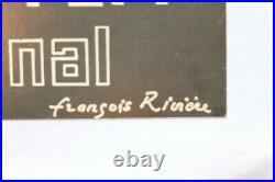 AFFICHE LITHO FERRARI 3e RALLYE INTERNATIONAL sign François Rivière VIN BORDEAUX