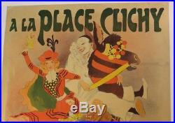 AFFICHE MAGASIN JOUET ETRENNES PLACE CLICHY PARIS 1897 G. MEUNIER JAPON Geisha Nô