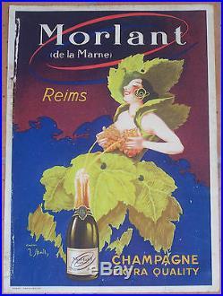 AFFICHE ORIGINAL CHAMPAGNE MORLANT DE LA MARNE REIMS STALL CIRCA 1910
