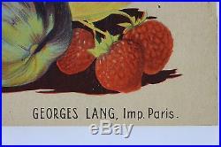 AFFICHE ORIGINALE ANCIENNE FRUITS de FRANCE 1934 ministère agriculture litho