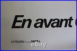 AFFICHE ORIGINALE CITROEN par SAVIGNAC VISA CX GS CHAMEAU CHEVRONS 120X160cm