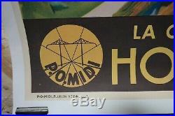 AFFICHE ORIGINALE de Paul CHAMPSEIX HOSSEGOR, la cote d'argent 1937