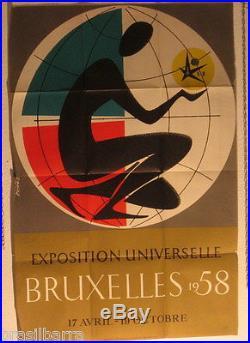 AFFICHE PUB EXPO UNIVERSELLE BRUXELLES 1958