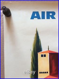 AFFICHE PUB Espagne AIR FRANCE 1963
