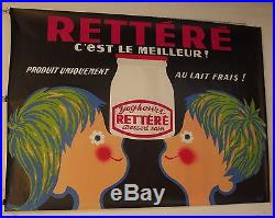 AFFICHE PUB Retteré Yoghourt Années 60