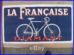 AFFICHE PUB pour VELO LA FRANCAISE-DIAMANT