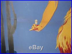 AFFICHE PUBLICITAIRE ANCIENNE COGNAC GELAS 1910-1917 FORMAT 166x126cm