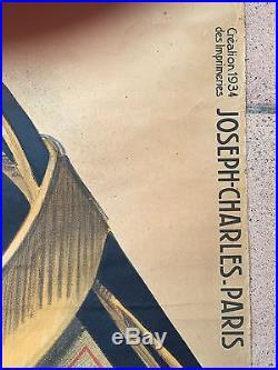 AFFICHE PUBLICITAIRE ANNÉE 30 LITHO ORIGINALE