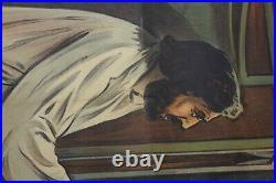 AFFICHE RUDOLPH VALENTINO THE EAGLE L'aigle Noir 1925 SILENT MOVIE UNITED ARTIST