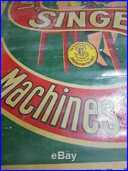 AFFICHE SINGER EXTRÊMEMENT RARE MACHINE A COUDRE CHATEAUROUX Sewing machine