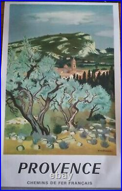 AFFICHE SNCF Provence Yves Brayer 1960