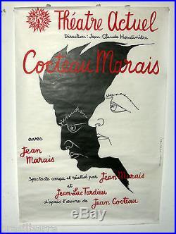 AFFICHE Theâtre Actuel COCTEAU-MARAIS avec Jean Marais