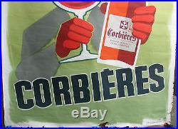 AFFICHE VINS DES CORBIERES. FORMAT 120 X 160 CM