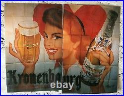 AFFICHE ancienne PUB Kronenbourg 1664 d' Aladin (pseudo de Morvan) 1952