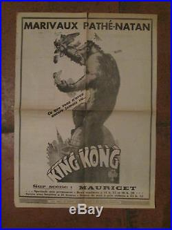 AFFICHE de JOURNAL PARIS SOIR KING KONG EPOQUE