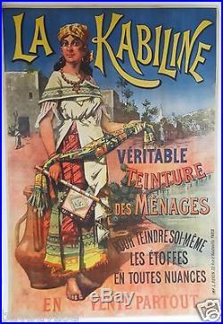 AFFICHE original poster KABILINE tissus couleur teinture tourisme orientalisme