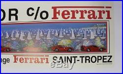 AFFICHE originale garage poster FERRARI SAINT-TROPEZ IVAN HOR 29 MAI 1993