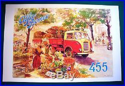 AFFICHETTE PUBLICITAIRE ALFA ROMEO PETIT CAMION MODELE 455 ANNEES 40