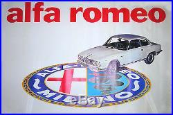 ALFA ROMEO AFFICHE DE CONCESSIONNAIRE