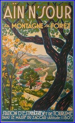 ALGERIE AIN N'SOUR SA MONTAGNE SA FORET MASSIF DU ZACCAR ALT 1150m ci-1930