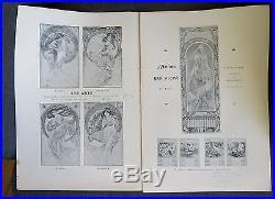 ALPHONS MUCHA rare catalogue illustré de ses oeuvres edition 1900 affiches