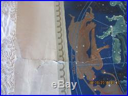ANCIENNE AFFICHE AIR FRANCE PLANISPHERE par LUCIEN BOUCHER / PERCEVAL