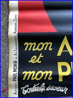 ANCIENNE AFFICHE AUTO THERMOS PAUL MOHR JOSEPHINE BAKER no cheret no mucha
