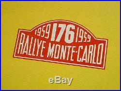 ANCIENNE PETITE AFFICHE AUTO RALLYE DE MONTE CARLO 1959 YACCO ID 19 CITROEN