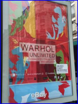 ANDY WARHOL AFFICHE Musee Paris