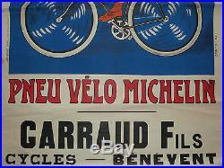 authentique affiche 1900 le meilleur le moins cher pneu velo michelin. Black Bedroom Furniture Sets. Home Design Ideas