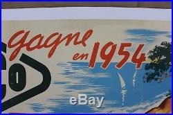 Affiche 1954 Rallye Monte Carlo Chiron Yacco Lancia Panhard Monopole Monaco