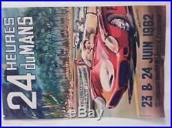 Affiche 24 heures du mans 1962 par béligond