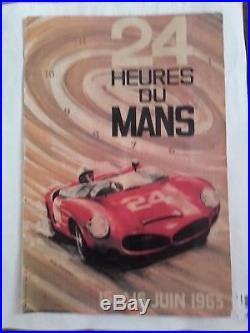 Affiche 24 heures du mans 1963 par g leygnac