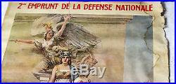 Affiche 2ème emprunt La défense nationale déchirures Dimensions 80 x 120 c