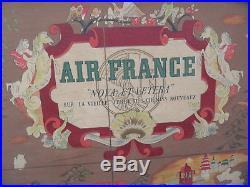 Affiche AIR FRANCE Lucien BOUCHER PLANISPHERE NOVA ET VETERA