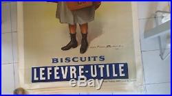 Affiche ANCIENNE ORIGINALE LU biscuit lu PUB old poster vintage