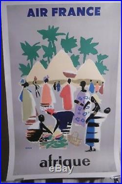Affiche Air France Afrique Even Exotique 1958