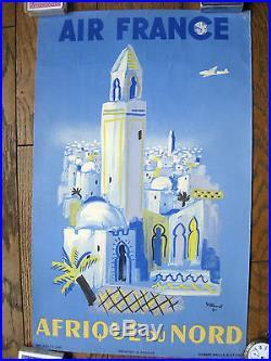 Affiche Air France Afrique du Nord par Villemot Original vintage poster