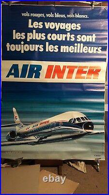 Affiche Air Inter Caravelle Deco