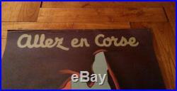 Affiche Allez en Corse Édouard Collin