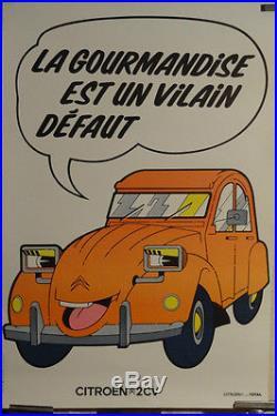 Affiche Ancienne 2cv Citroen Collector