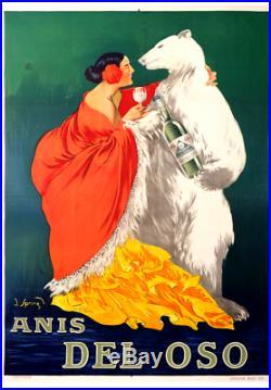 Affiche Ancienne ANIS del OSO Original Vintage Poster de 1919 by J. SPING