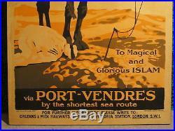 Affiche Ancienne Algerie Islam Priere Rare