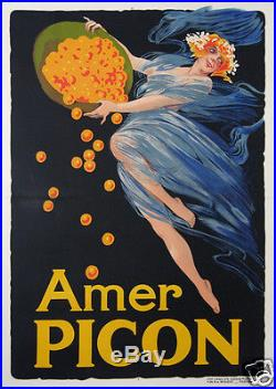 Affiche Ancienne Amer Picon Circa 1920-25 French Vintage Poster