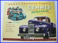 Affiche Ancienne Anglaise Camion Commer Rootes Superpoise 6 Cyl Ohv Engine 1955