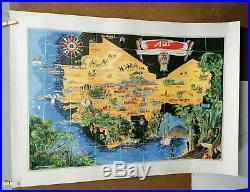 Affiche Ancienne Carte Afrique Occidentale Francaise Aof G Carriat Roland
