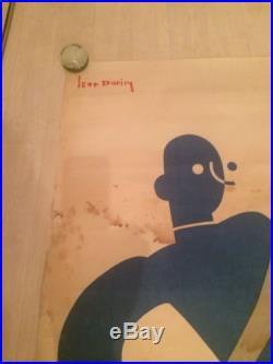 Affiche Ancienne Charcuterie Alsace 1933 Andolsheim Léon Dupin Rosetta Art Deco