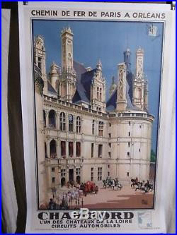 Affiche Ancienne Chateau De Chambord Scene D'epoque