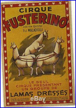 Affiche Ancienne Cirque Fusterino Lamas Dresses Harford